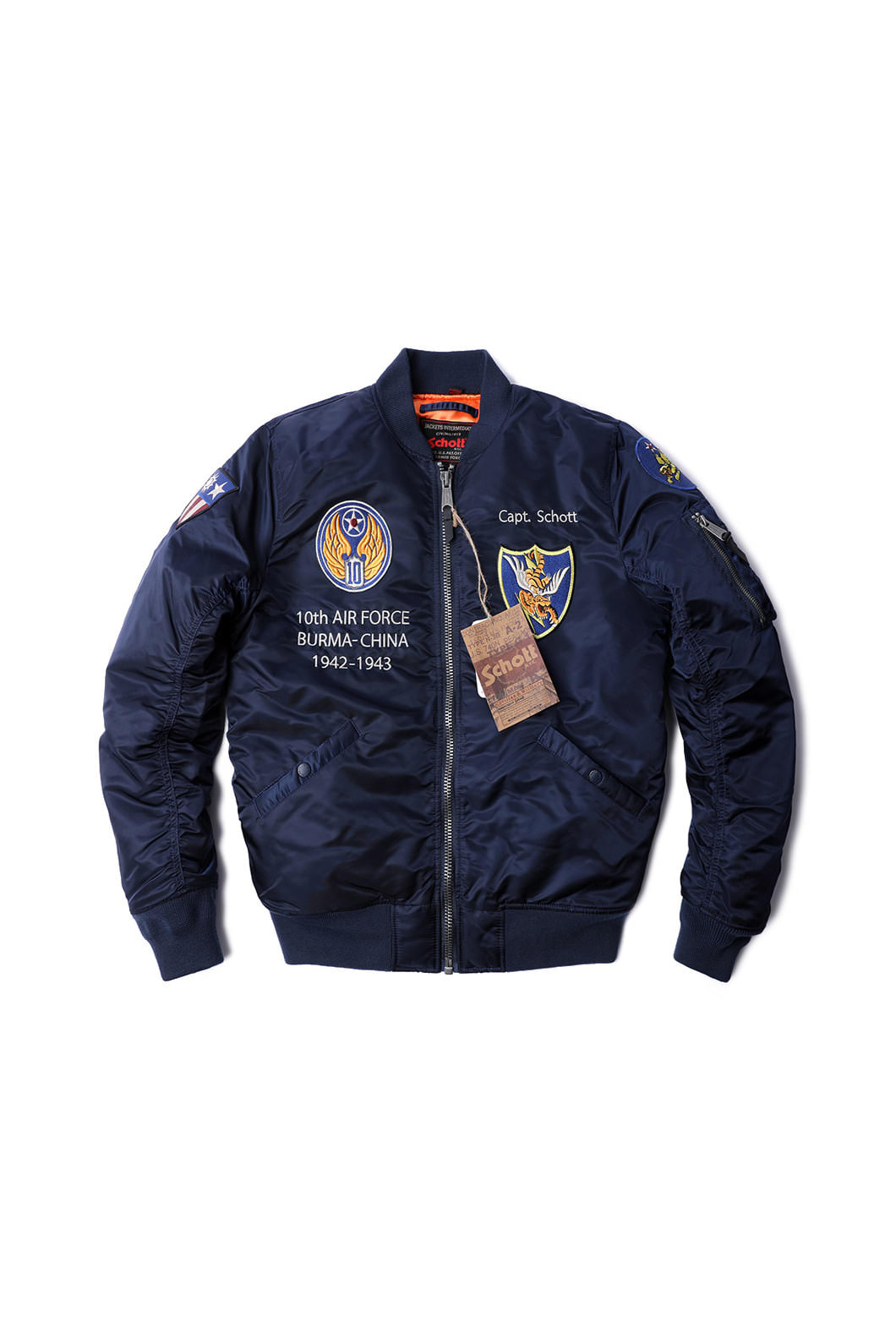 SCHOTT N.Y.C FLYING TENTH Padding MA-1 JACKET[America-Original]-2019FW 마지막수량입고!!