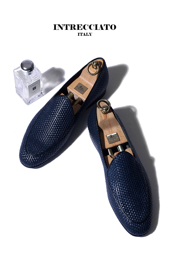 Take432 artisan intrecciato loafer/navy-프리미엄 에디션-