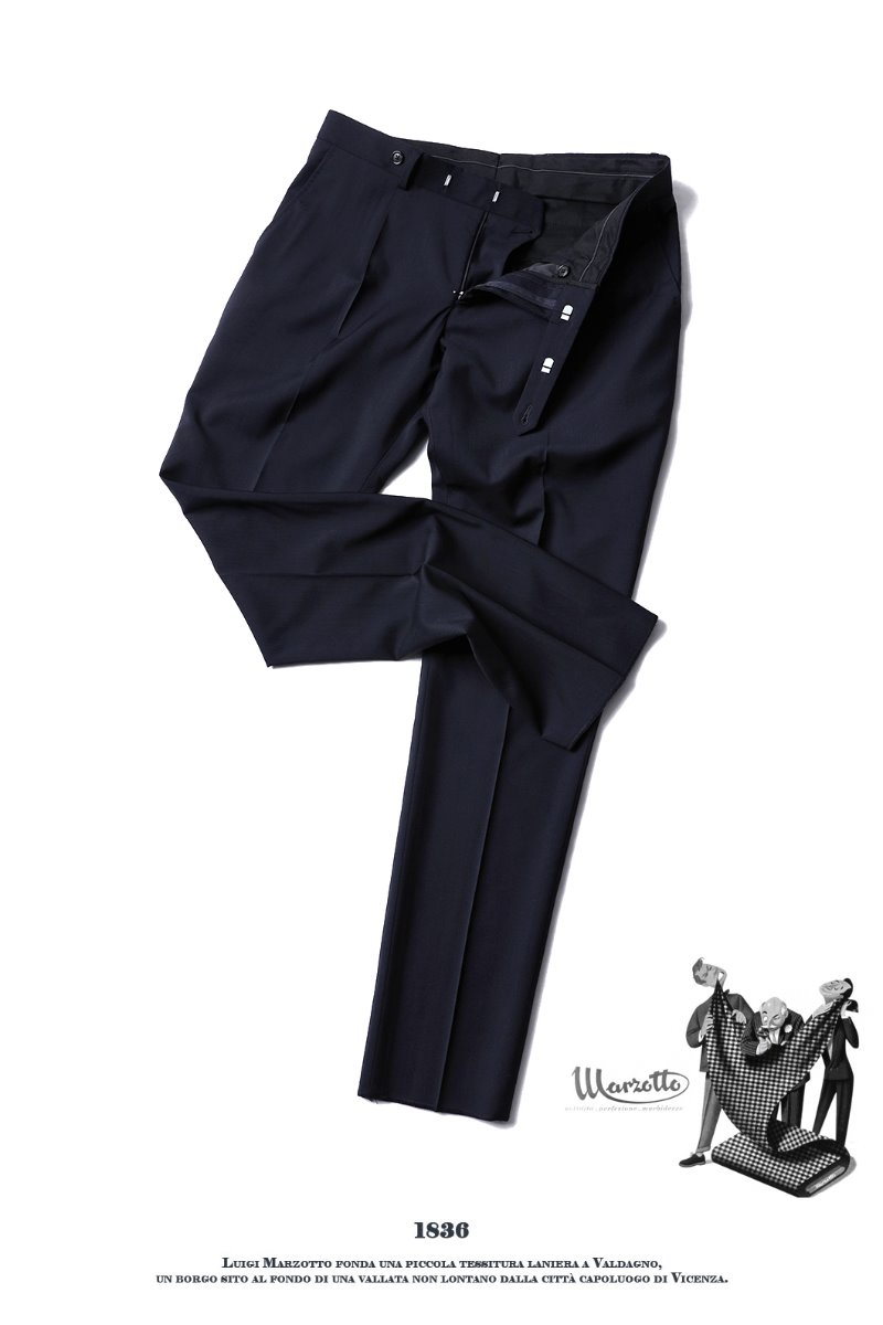 TAKE493 ITALY MARZOTTO VOLUME SLACKS PANTS-NAVY적극추천-가을시즌 추천 슬렉스!!