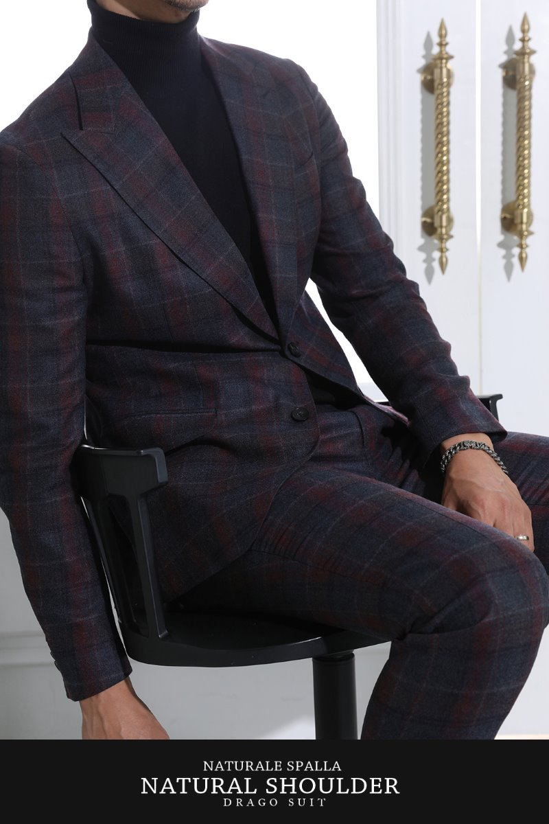 TAKE511 DRAGO ITALY CHECK SUIT-NATURALE SPALLA판매급증 제품!